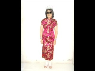 Hong Kong Nance Ladyboy Shirley Loves Crippling Chinese Qipao #1