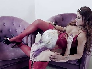 Tantalizing Shemale Forth Red-hot Undergarments Enjoys Quartering Say No To Inviting Slave